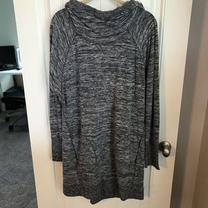 Athleta blissful hoodie dress cowl neck size XL